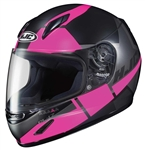 Youth Motorcycle Helmets - HJC Pink Striker