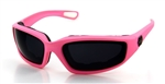 Ladies Pink Padded Motorcycle Glasses