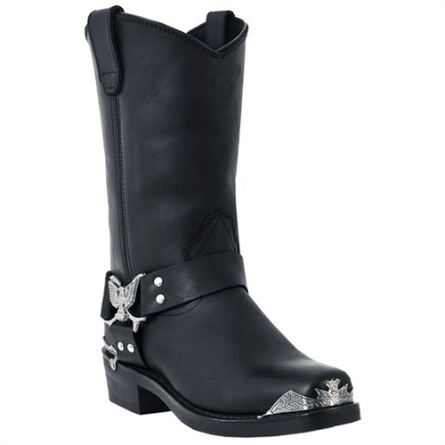 7050ac0046b Dingo Mens Black Harness Boot With Eagle Tips
