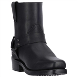 Dingo Short Mens Black Harness Boots