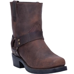Dingo Short Mens Brown Harness Boots