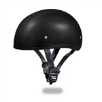 Daytona Skull Cap Motorcycle Helmets: Black Leather
