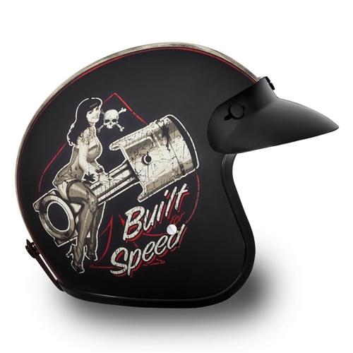 Built For Speed Daytona Cruiser 3 4 Motorcycle Helmet