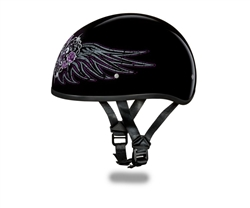 Purple Rose Heart Ladies Motorcycle Helmet