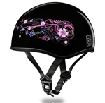 Girly Ladies Motorcycle Helmets - Daytona Slim Half