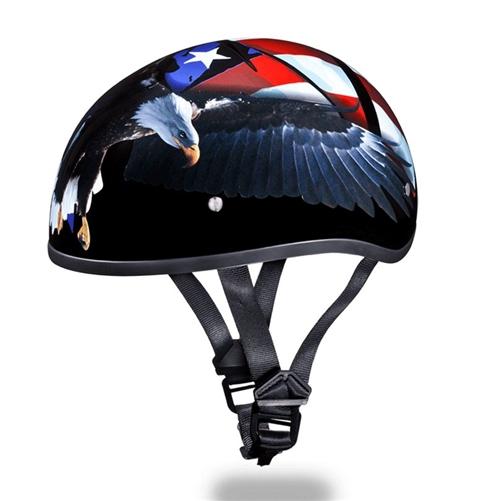 c314c286 Daytona Lightweight Motorcycle Helmets - USA Eagle Half Helmet