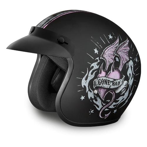 Ladies Motorcycle Helmets Quot Good Girl Gone Bad Quot Daytona Cruiser