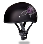 Purple Rose Ladies Motorcycle Helmet - Slim