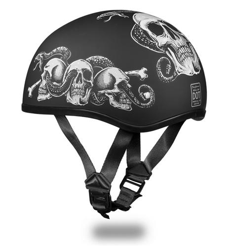 Lightweight Motorcycle Helmet >> Snakes Skulls Daytona Motorcycle Helmet