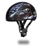 Daytona Skull Cap Motorcycle Helmets: USA Eagle
