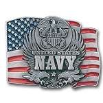 Biker Belt Buckles: US Navy