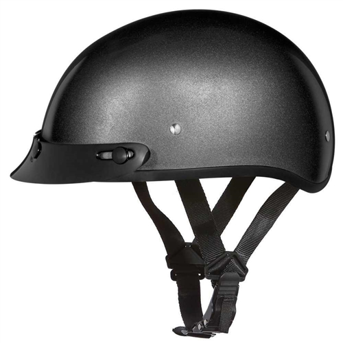 Daytona Skull Cap Helmets - Gun Metal Gray Small DOT with Visor 385eccaa5c1