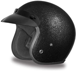 Black Metal Flake Daytona Cruiser Motorcycle Helmet