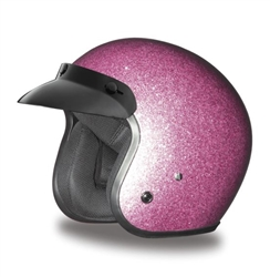 Pink Metal Flake Daytona Cruiser Motorcycle Helmet