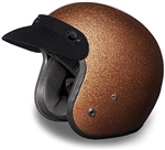Rootbeer Brown Metal Flake Daytona Cruiser Helmet