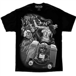Men's Biker T-Shirts: David Gonzales Born to Be Wild