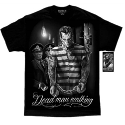 Men's DGA Biker T-Shirts: Frankenstein Dead Man Walking