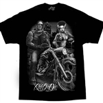 Men's Biker T-Shirts: DGA Frankenstein, Ride Or Die