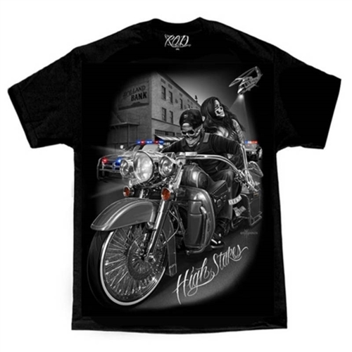 Dga Mens Biker Shirts Ride Or Die High Stakes