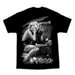 Men's Biker T-Shirts: David Gonzales Hollywood Home Girl