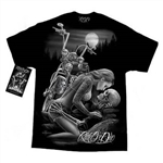 Men's Biker T-Shirts: DGA Lover Skulls, Ride or Die