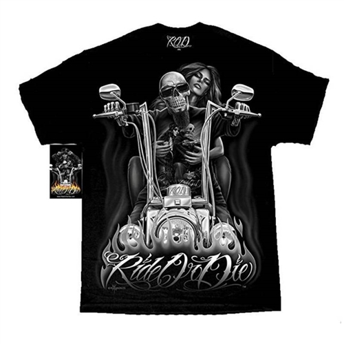 Mens Biker Shirts Ride Or Die My Old Lady By David Gonzales