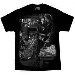 Men's Biker T-Shirts: DGA Partner in Crime