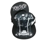 Ride or Die Biker Style Snap Back Hat: Motorcycle Graphic