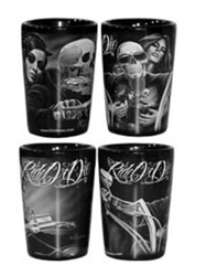 Ride or Die Motorcycle Style Shot Glasses