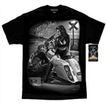 Men's Biker T-Shirts: David Gonzales Til the wheels fall off