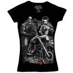 Biker Clothes: Ladies Ride Or Die Shirt: Frankenstein