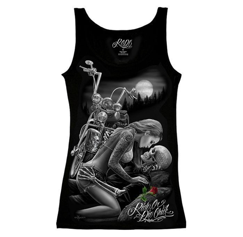 49052b4663d92 Ladies Biker Tank Top (Ride or Die Lovers)