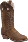 Womens Western Boots - Double-H Brown Leather Buckaroo