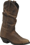 Women's Western Boots - Double-H Tan Crazy Horse Slouch
