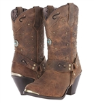 Womens Brown Leather Dingo Western Boots