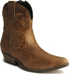 "Dingo Women's Cowboy Boots -  ""Adobe Rose"" Brown Leather"
