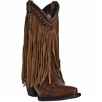 "Dingo Women's Fringe Western Boot ""Heart Throb"""
