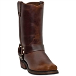 Dingo Mens Western Boots - Brown Leather Harness
