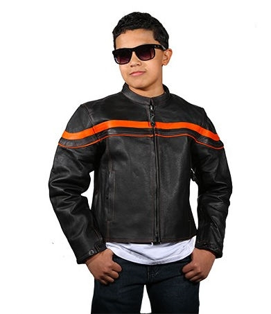 74e6d225c Kids Leather Motorcycle Jackets, Youth Racer Riding Jacket