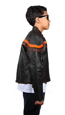 Kids Leather Motorcycle Jackets Youth Racer Riding Jacket