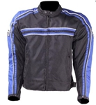 Mens Textile Motorcycle Jacket - Blue Body Armor