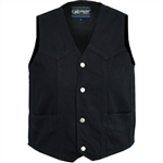 Kids Black Denim Vest