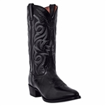 "Dan Post Western Boots - Men's Mignon Black Leather ""R Toe"""