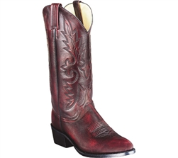 "Dan Post Men's Western Boot -  Mignon Black Cherry Leather ""R Toe"""