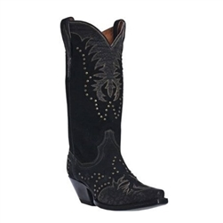 Dan Post Women's Black Cowboy Hoots