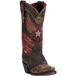 Dan Post Women's Western Boots: Distressed Brown Leather