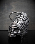Bravo Motorcycle Guardian Bells: Indian Skull