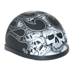 Novelty Motorcycle Helmets: Skull & Flames