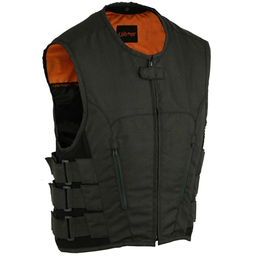 Textile Single Panel Back Swat Men S Motorcycle Vest