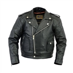 Kids Leather Motorcycle Jackets - Beltless Biker